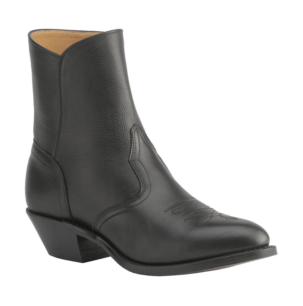 """Boulet Men's 7"""" Western Zipper Boots - Medium Toe, Black, hi-res"""