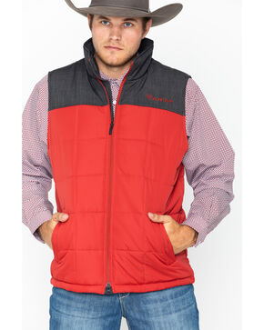 Ariat Men's Crius Insulated Vest, Red, hi-res