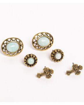 Shyanne Women's 3-Pack Stud Earrings, Bronze, hi-res