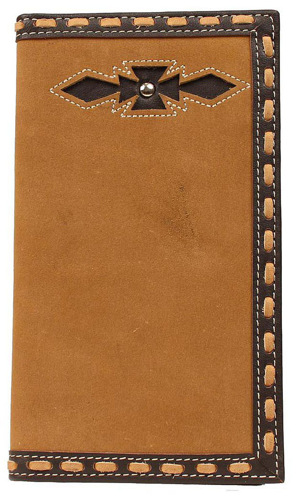 Ariat Laced Edge & Aztec Inlay Rodeo Wallet, Brown, hi-res