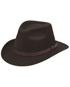 Black Creek Brown Crushable Western Wool Felt Hat , Brown, hi-res