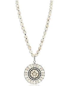Montana Silversmiths Women's Early Morning Silver Dollar Necklace, No Color, hi-res