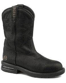 Roper Men's Worker Balck Western Boots - Square Toe, Black, hi-res