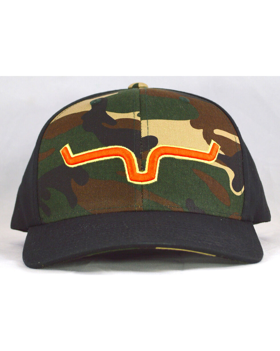 Kimes Ranch Men's Camo Bounty Hunter Logo Baseball Cap , Camouflage, hi-res