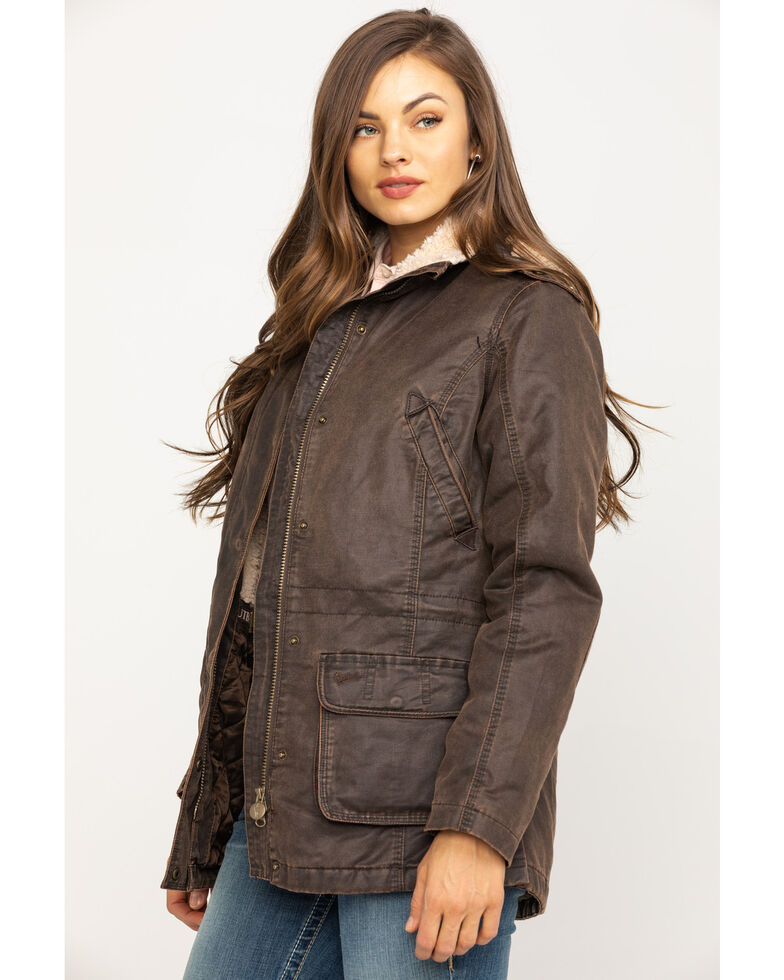 Outback Trading Co. Woodbury Canyonland Jacket with Sherpa Hood, Brown, hi-res