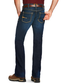 Ariat Men's Rebar M4 Edge Low Rise Maritime Wash Bootcut Jeans, Blue, hi-res