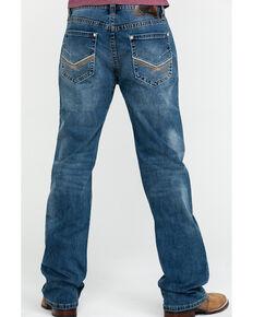 Rock & Roll Denim Men's X Stitch Double Barrel Straight Jeans , Blue, hi-res