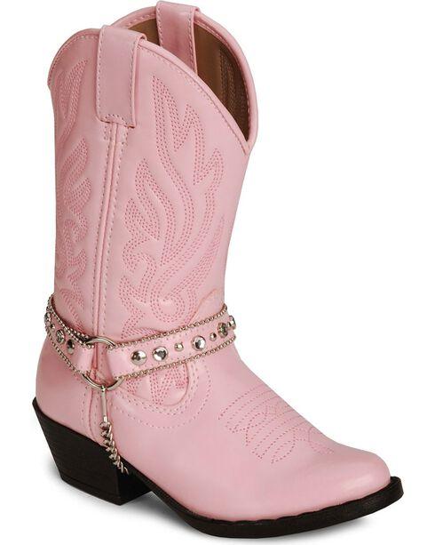 Smoky Mountain Girls' Charleston Cowboy Boots, Pink, hi-res