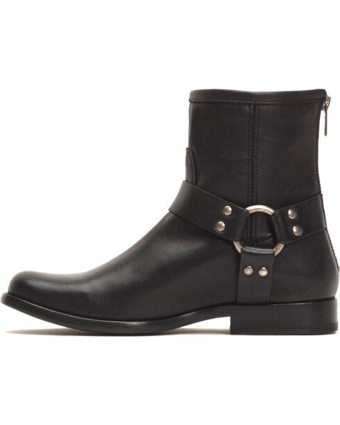 Frye Women's Black Phillip Harness Short Boots - Round Toe , Black, hi-res