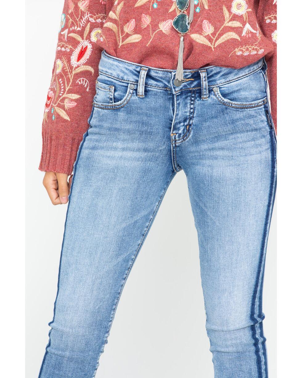 Silver Women's Aiko Tuxedo Stripe Ankle Jeans - Skinny, Indigo, hi-res