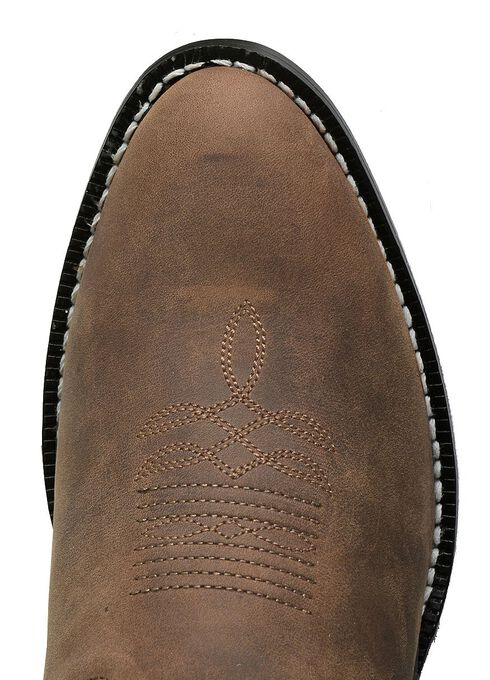 Justin Youth Boys' Basic Western Cowboy Boots - Round Toe, Bay Apache, hi-res