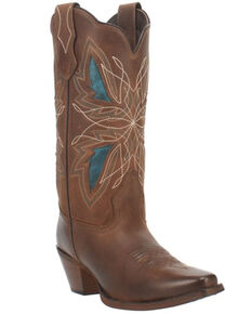 Laredo Women's Flutterby Western Boots - Square Toe, Brown, hi-res