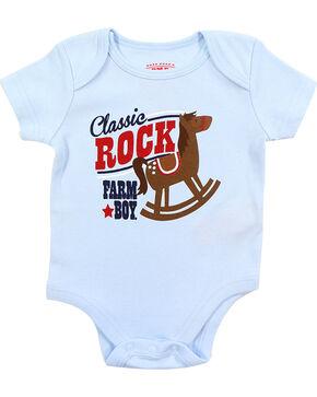 Farm Boy Infant Boys' Classic Rock Short Sleeve Onesie, Blue, hi-res