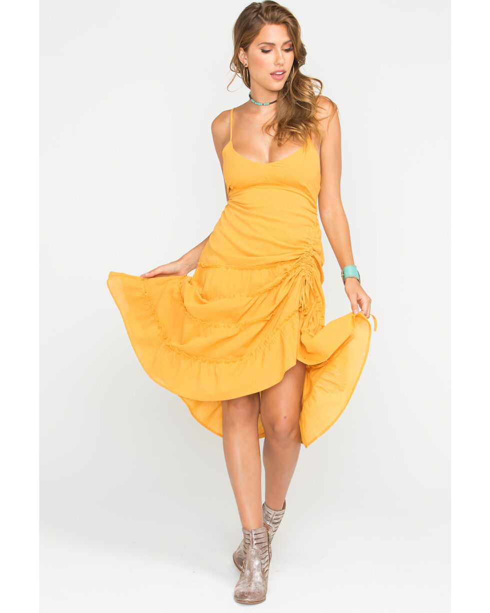 Sage the Label Women's Yellow Rio Dress , Yellow, hi-res