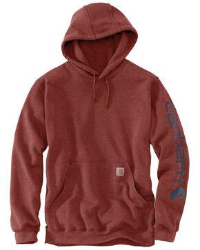 Carhartt Men's Mid Weight Hooded Logo Work Sweatshirt - Tall , , hi-res