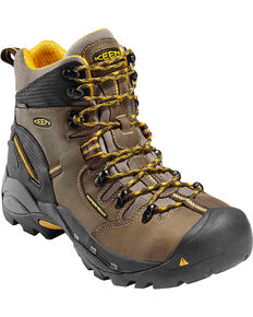 Keen Men's Electrical Hazard Protection Work Boots - Steel Toe , Brown, hi-res