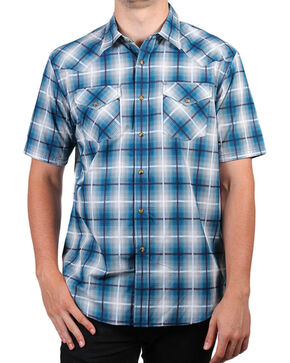 Pendleton Men's Turquoise Short Sleeve Plaid Shirt , Turquoise, hi-res