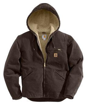 Carhartt Sierra Sherpa Lined Work Jacket - Big & Tall, Brown, hi-res
