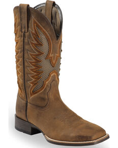 Ariat Men's VentTEK Ultra Quickdraw Cowboy Boots - Square Toe, Brown, hi-res