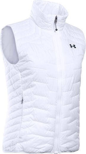 Under Armour Women's UA ColdGear Reactor Vest, White, hi-res