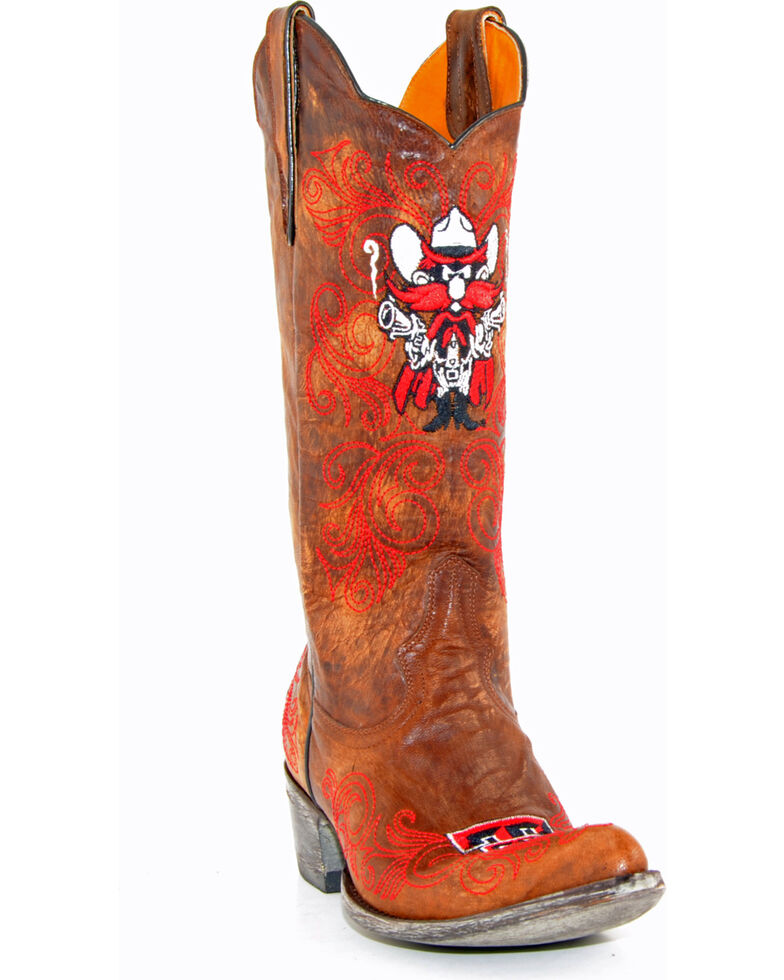 Gameday Texas Tech University Cowgirl Boots - Pointed Toe, Brass, hi-res