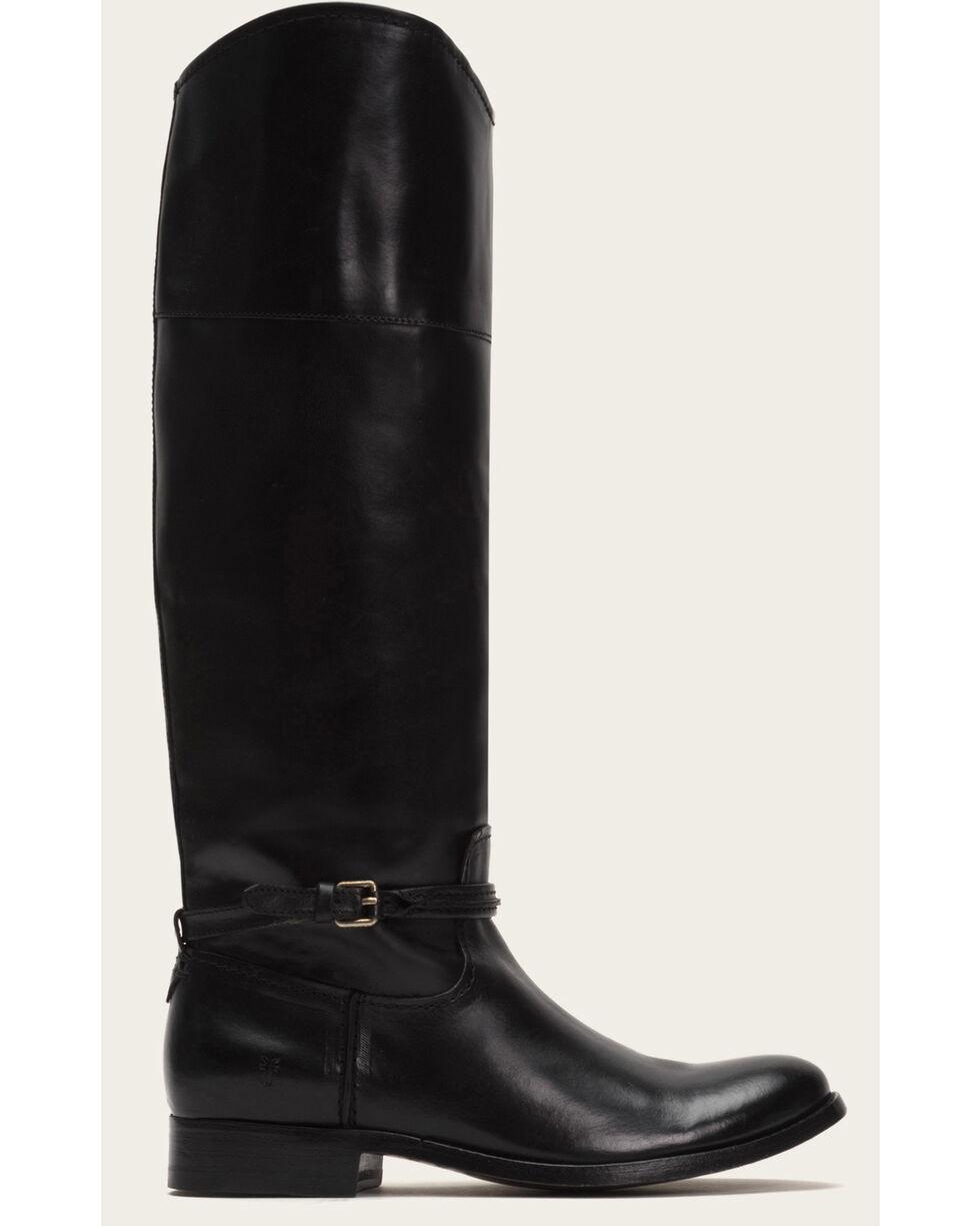 Frye Women's Black Melissa Seam Tall Boots - Round Toe, Black, hi-res
