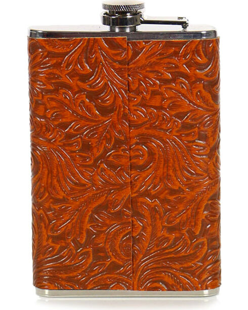 BB Ranch 12 Gauge Tooled Flask, No Color, hi-res