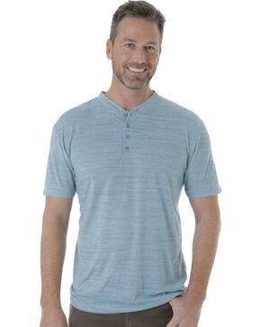 Wrangler Men's Riggs Workwear Short Sleeve Henley Shirt , Blue, hi-res