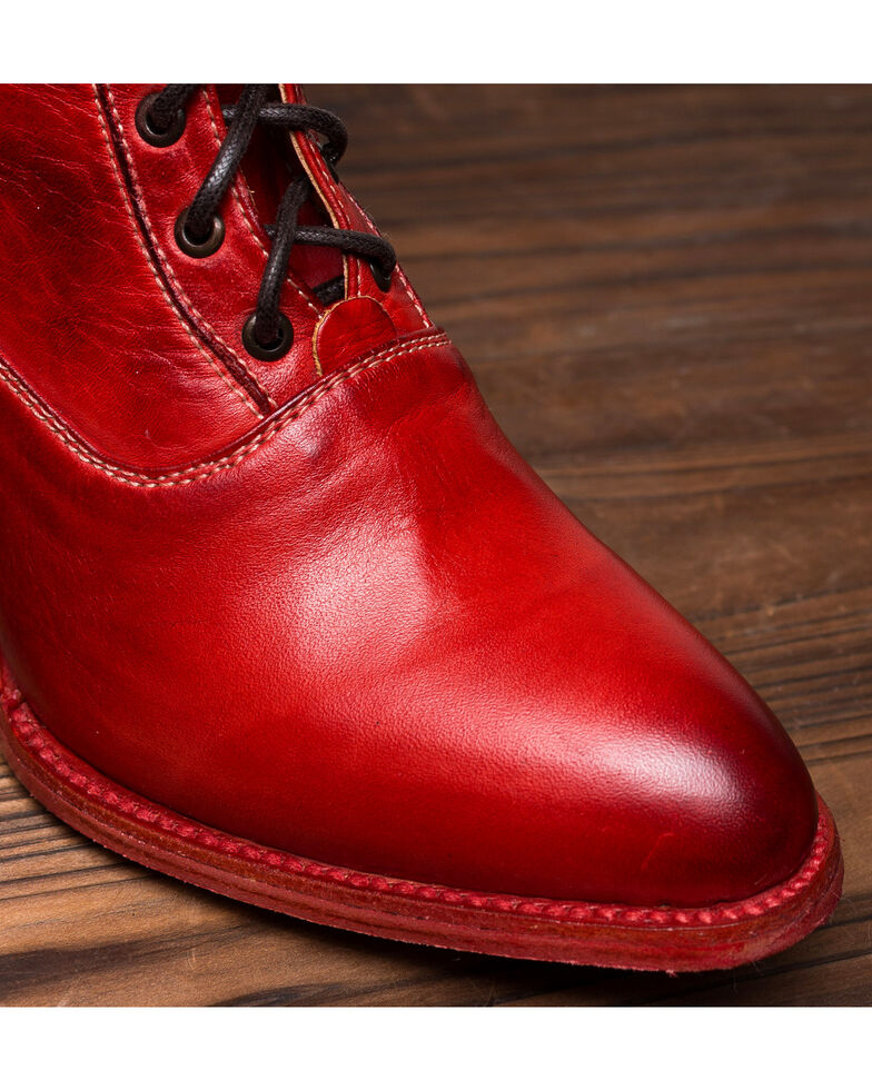 Oak Tree Farms Eleanor Red Boots - Medium Toe, Red, hi-res