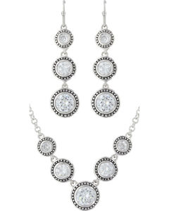 Montana Silversmiths Star Lights Dew Drop Jewelry Set, Silver, hi-res