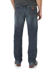 Wrangler Men's Bozeman Retro Stretch Slim Straight Leg Jeans , Denim, hi-res