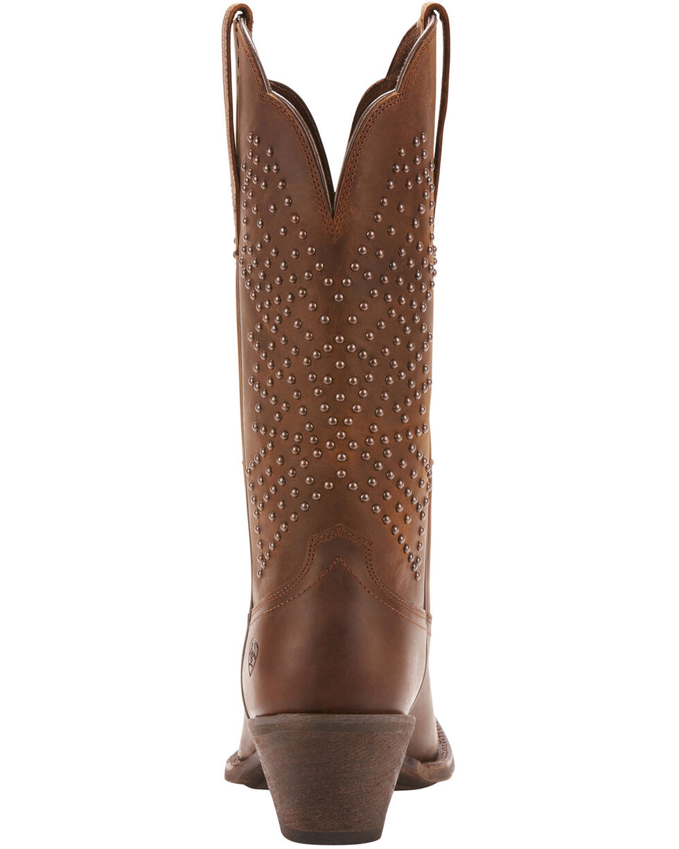 Ariat Women's Lakyn Western Boots - Square Toe, Distressed Brown, hi-res