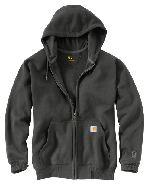Carhartt Rain Defender Paxton Heavyweight Zip Front Hooded Sweatshirt, Bark, hi-res