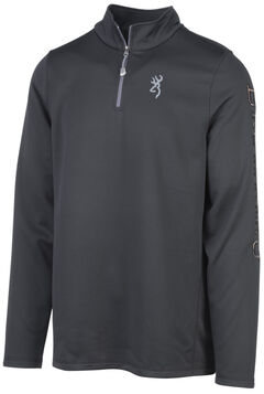 Browning Men's Black Pitch Quarter Zip Pullover , Black, hi-res