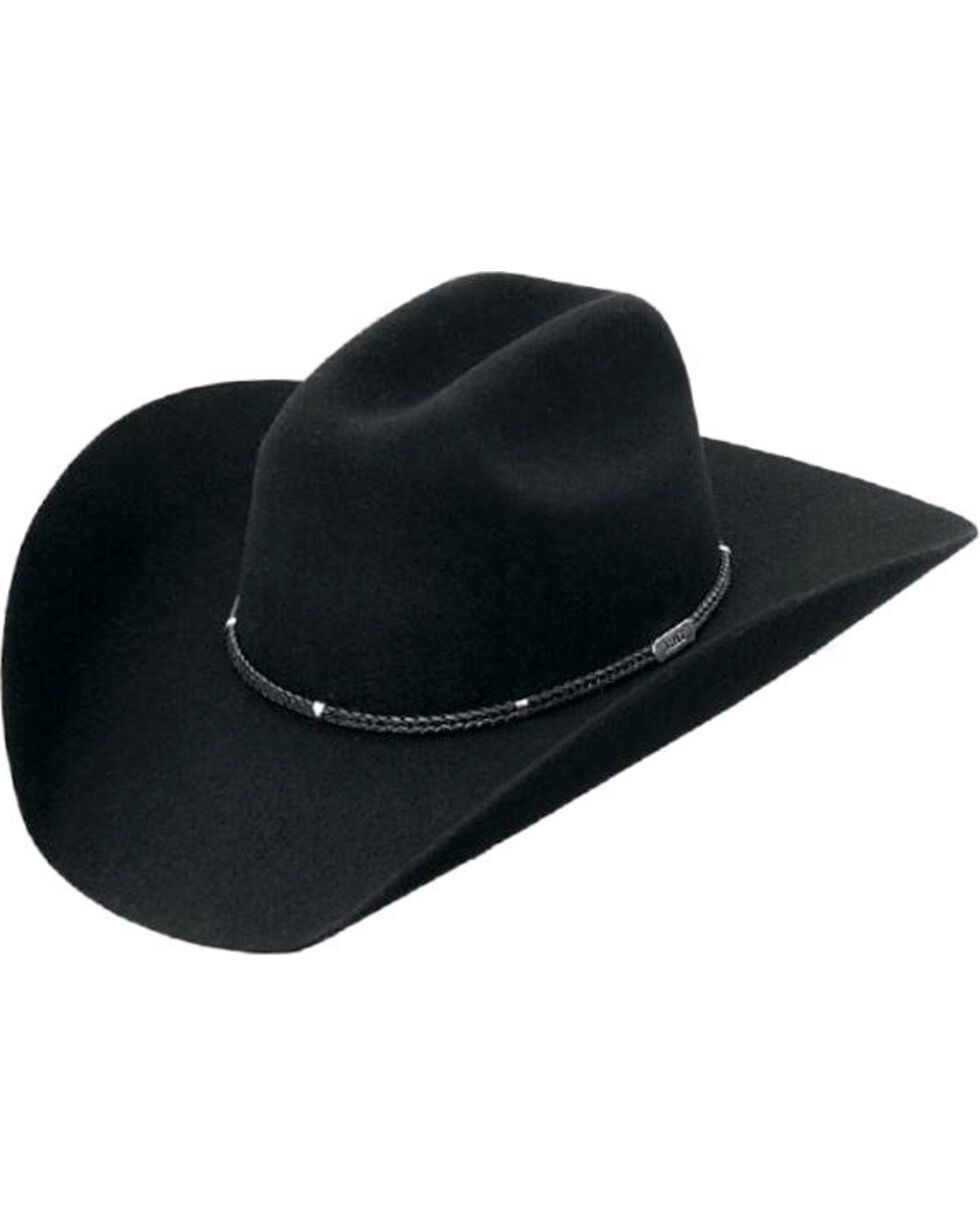 Master Hatters Men's Black Stanton 3X Wool Felt Cowboy Hat, Black, hi-res