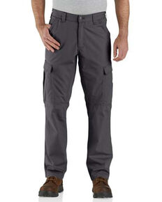 Carhartt Men's Shadow M-Force Relaxed Ripstop Cargo Work Pants , Grey, hi-res