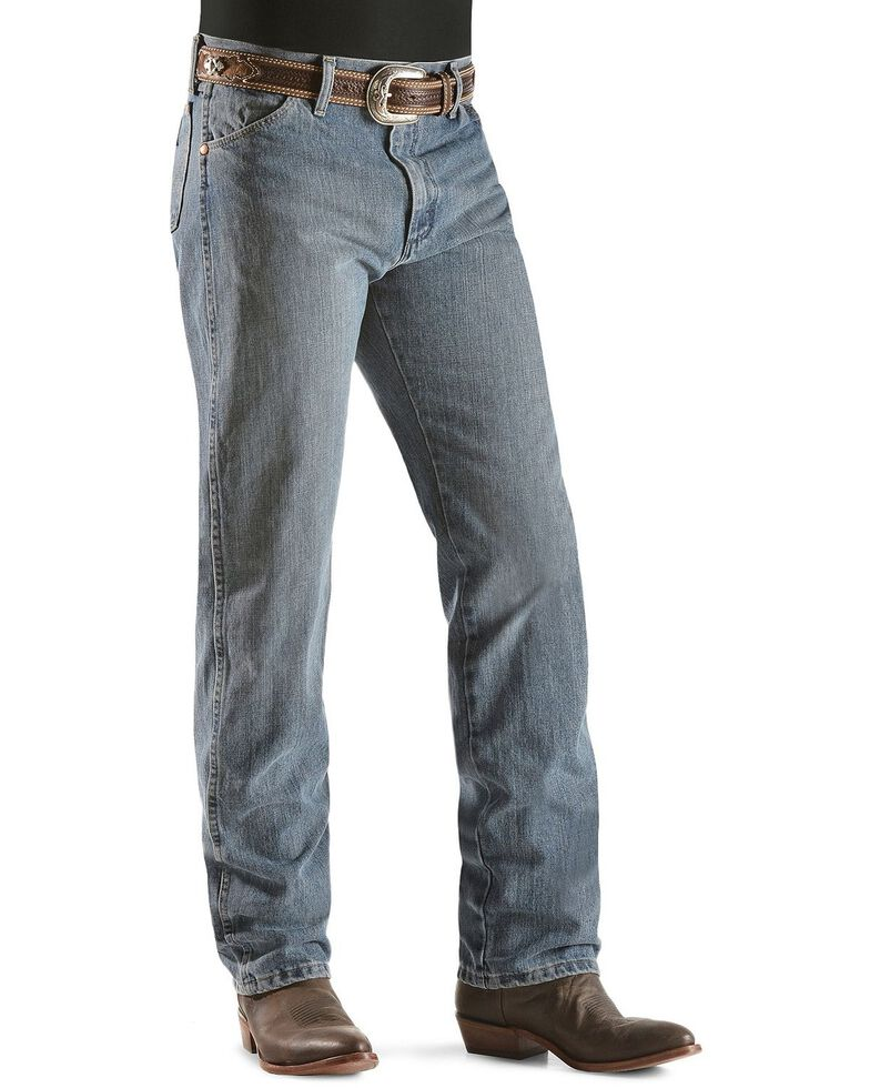Wrangler 13MWZ Jeans Cowboy Cut Original Fit Prewashed Jeans , Rough Stone, hi-res