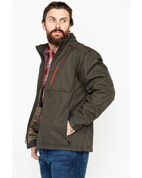 Ariat Men's Soft Shell Walnut Jacket, Dark Brown, hi-res