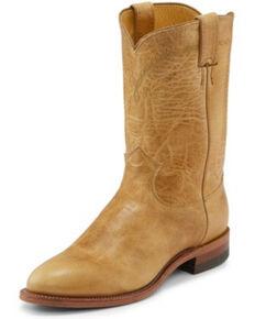 Justin Men's Brock Golden Western Boots - Round Toe, Tan, hi-res