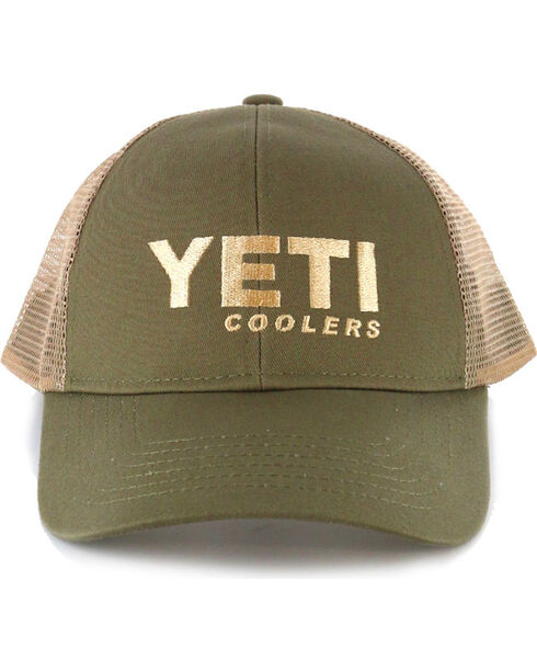 Yeti Men's Olive Green Traditional Trucker Hat , Olive, hi-res