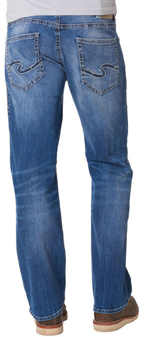 Silver Jeans Men's Zac Signature Relaxed Fit Straight Leg Jeans , Denim, hi-res