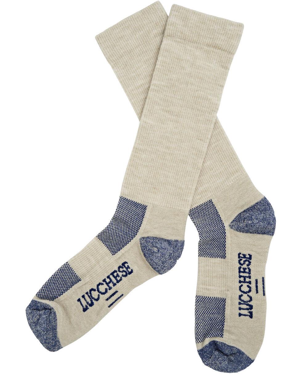 Lucchese Men's Tan Wool Socks , Tan, hi-res