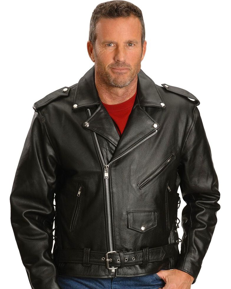b7b980475f68 Interstate Leather Motorcycle Jacket