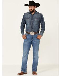 Wrangler Retro Men's Colorado Stretch Slim Bootcut Jeans - Long , Blue, hi-res