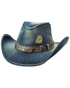 Bullhide Women's Nonstop Straw Hat, Blue, hi-res