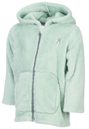 Browning Toddler Girls' Green Teddy Bear Jacket , Green, hi-res
