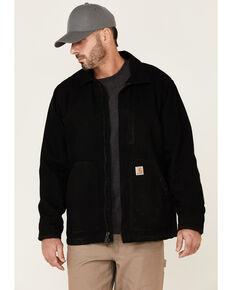 Carhartt Men's Black Washed Duck Sherpa Lined Work Coat , Black, hi-res