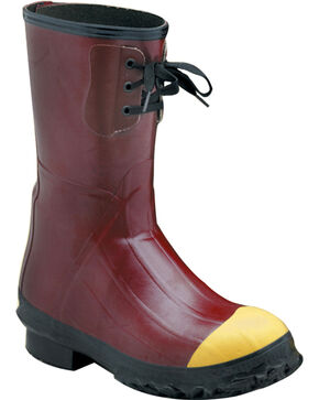 "Lacrosse Men's Insulated PAC 12"" Steel Toe Work Boots - Steel Toe, Red, hi-res"