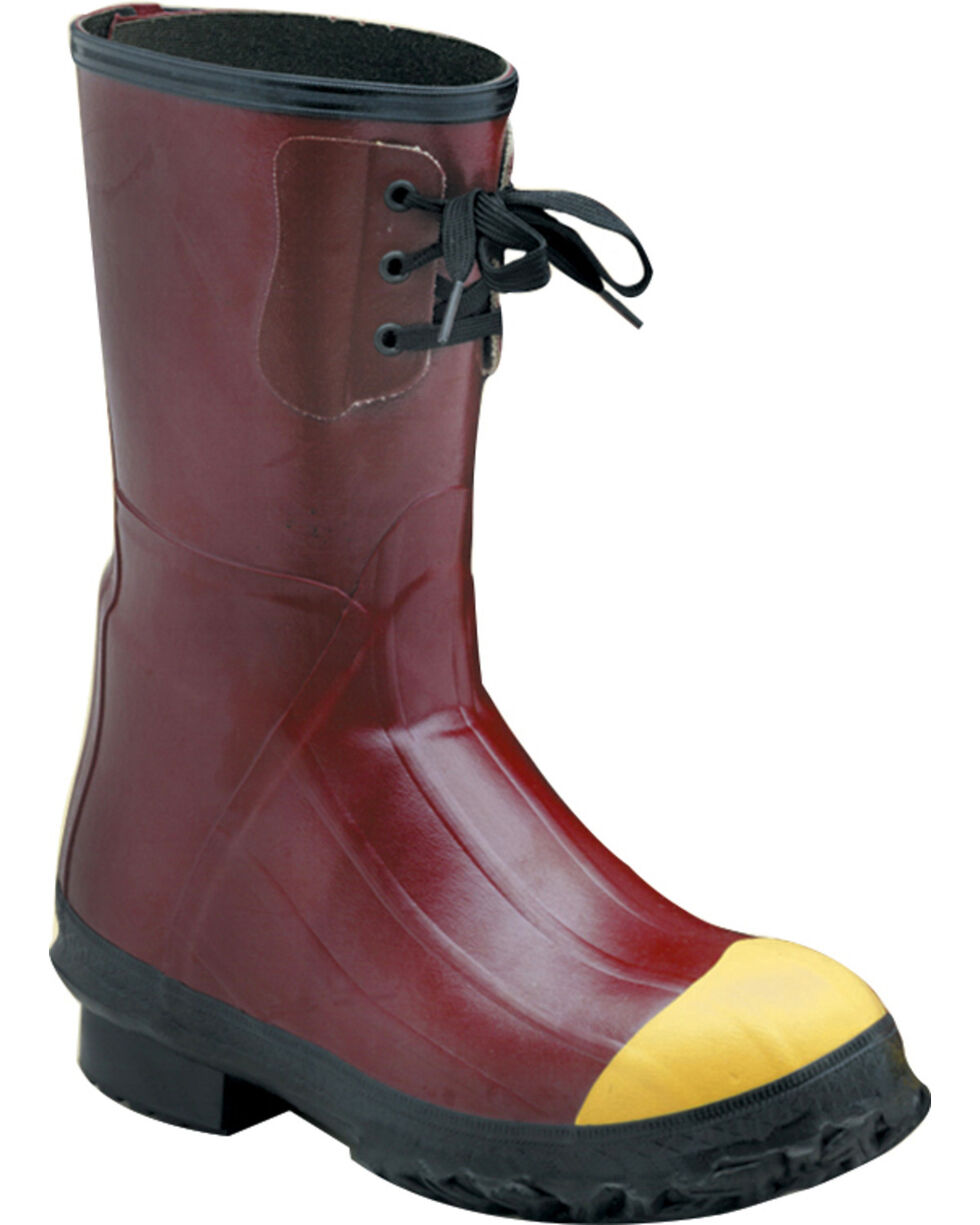 """Lacrosse Men's Insulated PAC 12"""" Steel Toe Work Boots - Round Toe, Red, hi-res"""