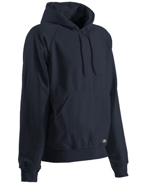 Berne Original Fleece Hooded Pullover - Tall 3XT and 4XT, Navy, hi-res